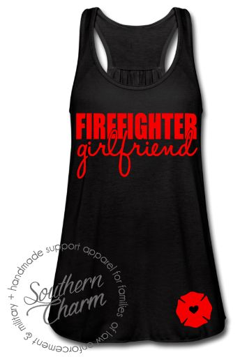 Southern Charm Designs - Firefighter Girlfriend Top, $29.00 (http://www.shopsoutherncharmdesigns.com/firefighter-girlfriend-top/)