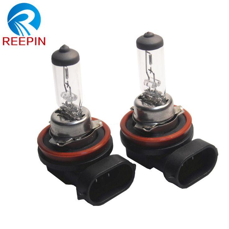 2 unids H8 12 V 35 W claro pgj19-1 coche piezas de automóviles lámpara halógena luz de niebla bombilla de cuarzo de cristal OEM calidad CP009