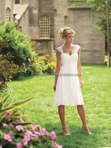 Buy Sheath/Column Bateau Elegant Style Chiffon Wedding Dresses CHWD-30273 with Ruched Simple Wedding Dresses under $298.99 only in Dressywomen.