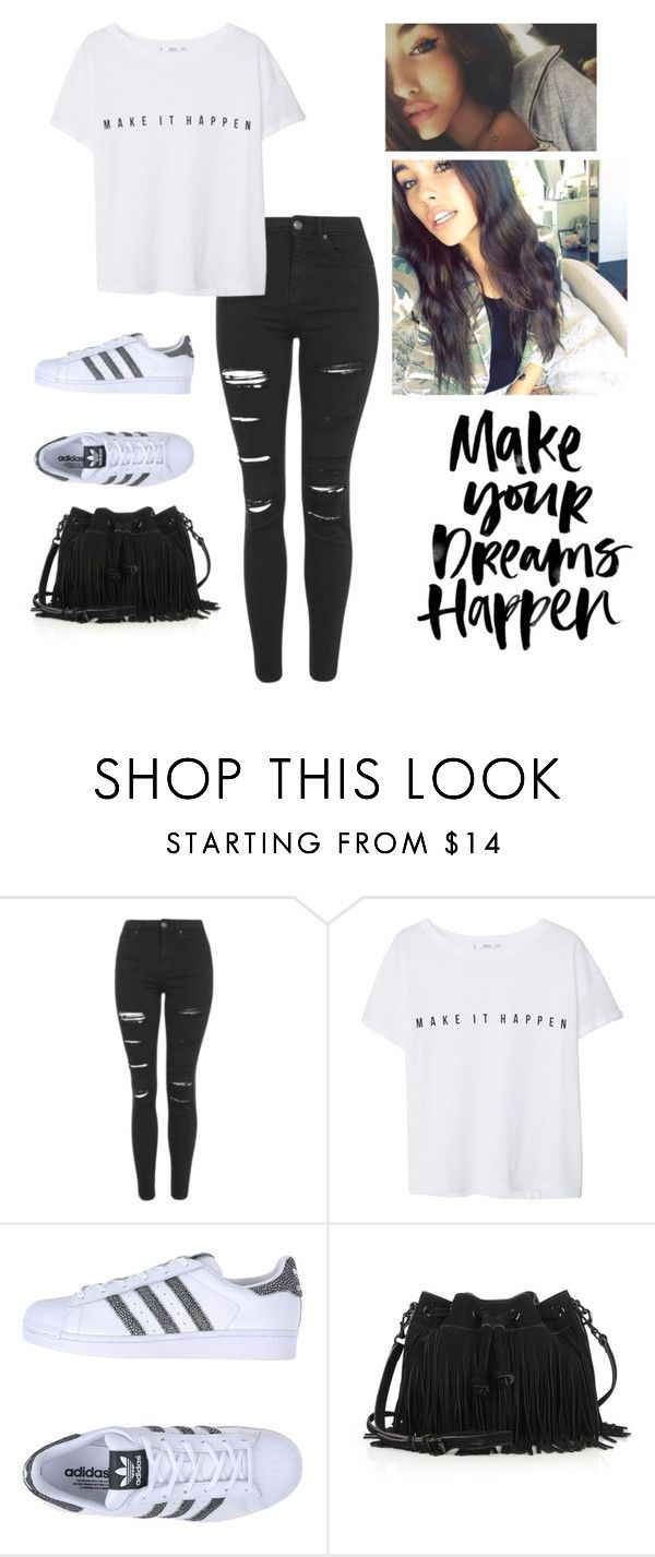 """unbreakable~madison beer"" by aryabarak ❤ liked on Polyvore featuring beauty, Topshop, MANGO, adidas Originals and Rebecca Minkoff"