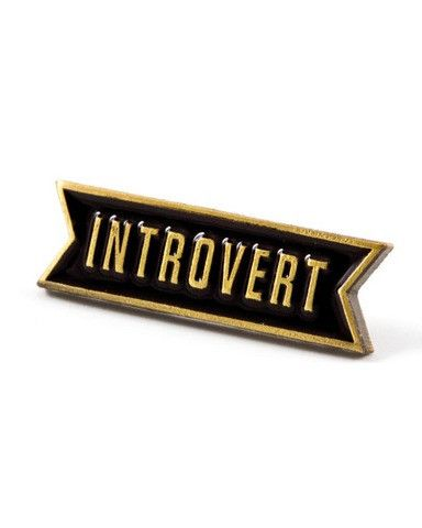 Hello Holiday · Introvert Enamel Pin