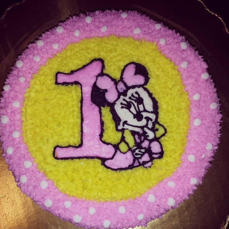 Minnie Mouse 1st Birthday Smash Cake