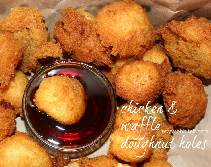 ~Chicken & Waffle Doughnut Holes! | Oh Bite It