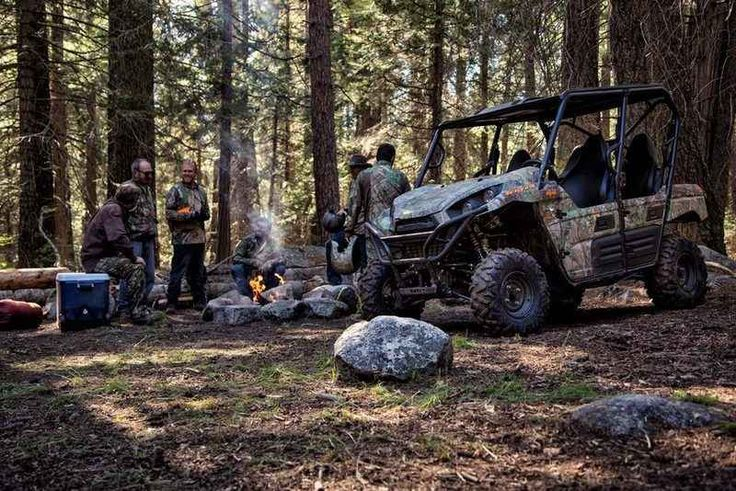 New 2016 Kawasaki Teryx4 Camo ATVs For Sale in Florida. 2016 Kawasaki Teryx4 Camo, THE KAWASAKI DIFFERENCE Up for any challenge, the redesigned Kawasaki Teryx4 Camo side X side takes on the wilderness full-throttle with its powerful, 800-Class V-Twin engine and Premium Fox Podium Piggyback shocks. 783cc V-Twin engine with strong mid-range power delivery 49:51 weight distribution for confident handling Durable Double-X frame construction Tilt steering, Electric Power Steering (EPS) and tight…