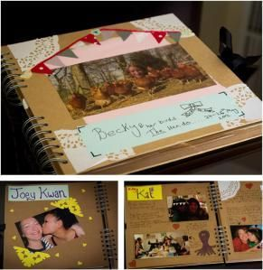 Hen Party Scrapbook! - I love how it even says 'Becky' on the front cover ;)