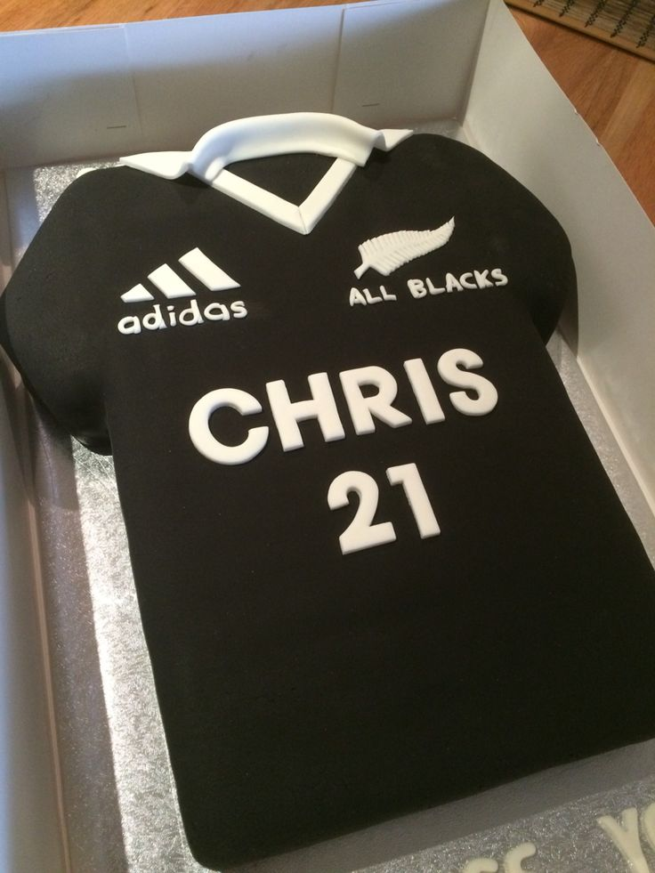 NZ All Blacks Rugby Jersey Cake