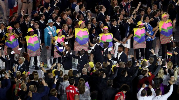 Refugee team receives incredible welcome at the Olympics Opening Ceremony Image…