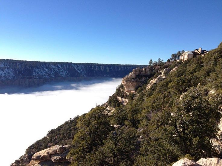 Раз в 10 лет туман заполняет Гранд-Каньон - Путешествуем вместе