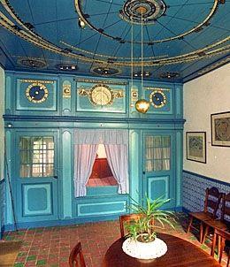 Koninklijk Eise Eisinga Planetarium. Between 1774 and 1781 Eise Eisinga built a solar system model into his living room ceiling in Friesland, Holland.