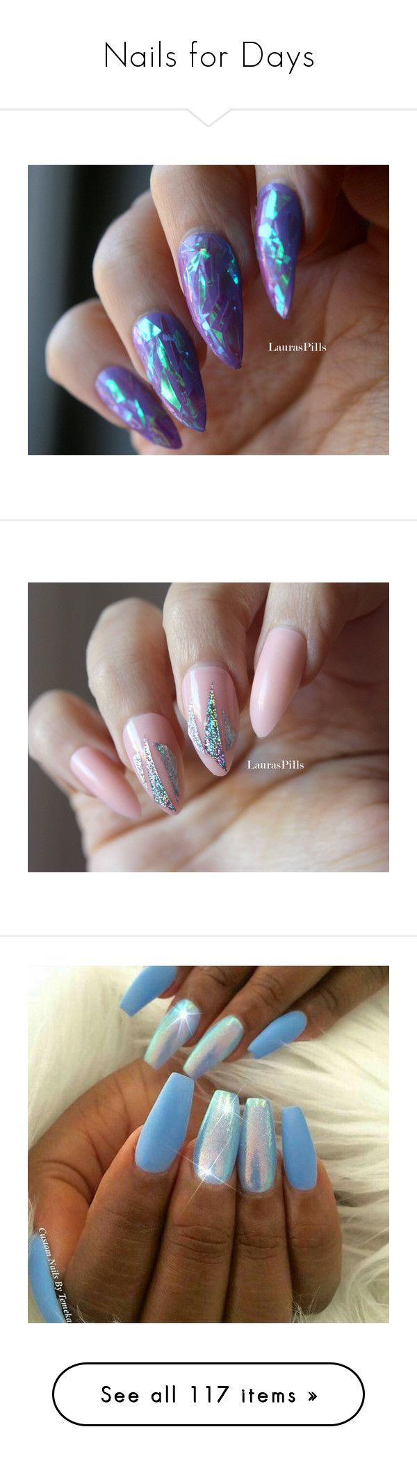 """""""Nails for Days"""" by shannoncleghorse ❤ liked on Polyvore featuring beauty products, nail care, nail treatments, nails, makeup, beauty, nail polish, gel nail color, gel nail varnish and gel nail care"""
