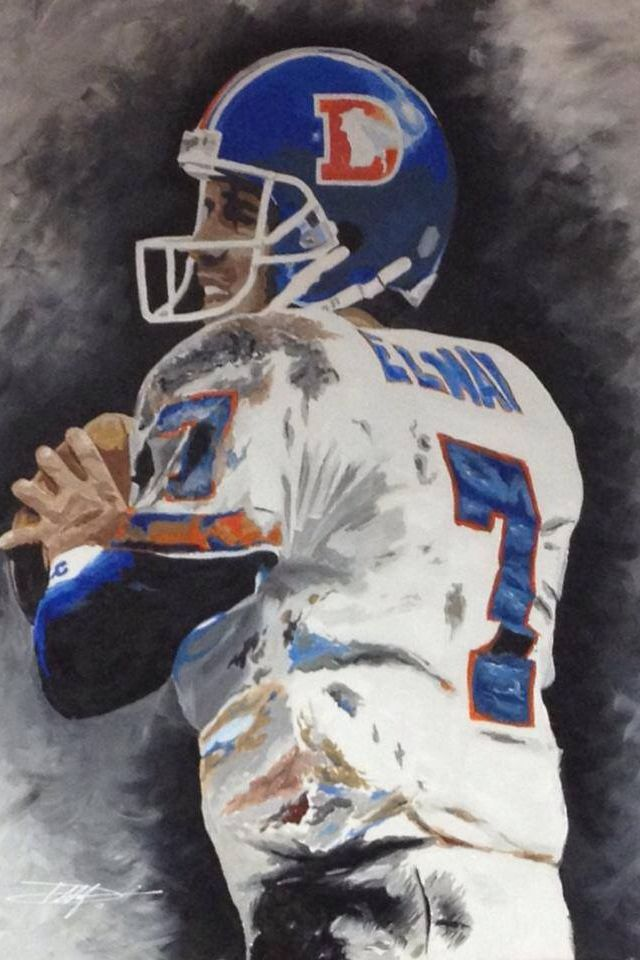 Denver Broncos Pencil Drawings
