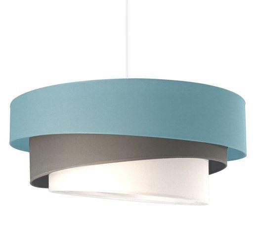 IONOS - Lampa wisząca Niebieski, Szary, Biały Śr.58cm - Lampy wiszące - zdjęcia, pomysły, inspiracje - Homebook