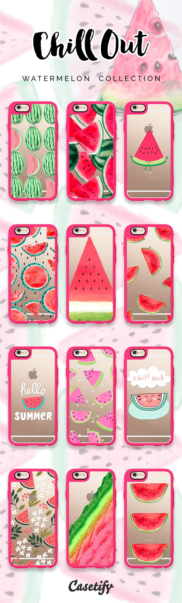 Top 12 watermelon iPhone 6S protective phone cases | Click through to see more fruit iphone phone case ideas >>> https://www.casetify.com/artworks/14wnEYyuXl #food | @casetify