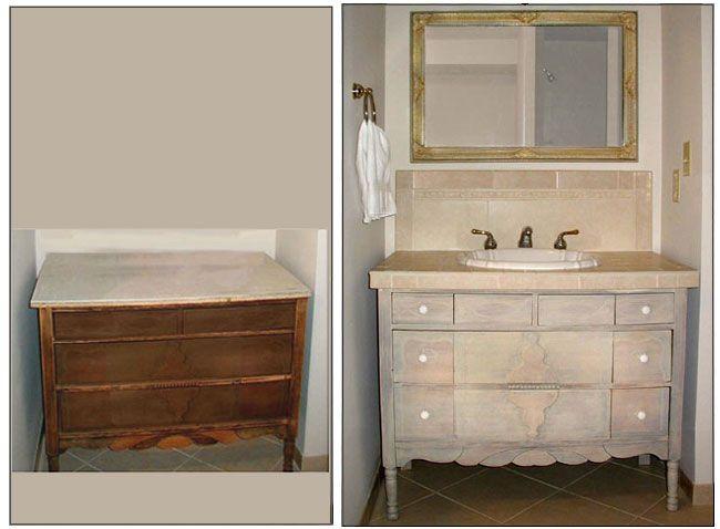 Repurposed Bathroom Ideas: Re-purposed Bathroom Vanity