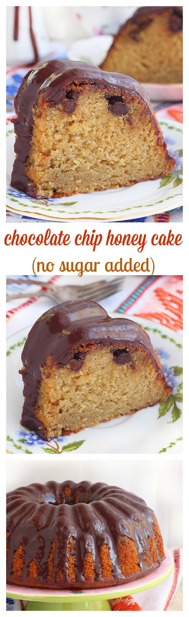 Extra moist and sweet, this chocolate chip honey cake is so flavorful and so easy to make. Dress it up with a thin layer of chocolate ganache and you have an irresistible snack cake!