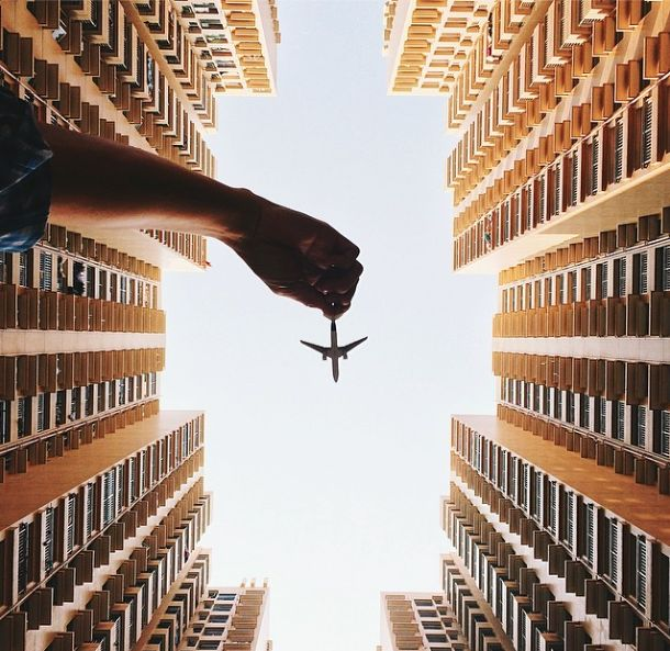 Fun and Imaginative Photos of a Toy Plane Soaring in the Sky - My Modern Metropolis