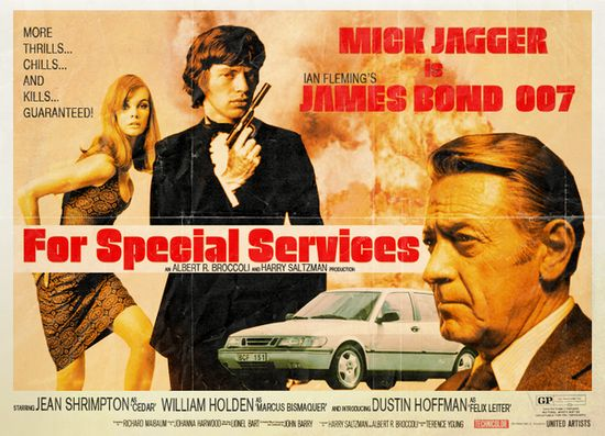 bondJames Of Arci, Movie Posters, Peter Stults, Picture-Black Posters, Peter O'Tool, James Bond, Alternative Univers, Mick Jagger, Movie Reimagined