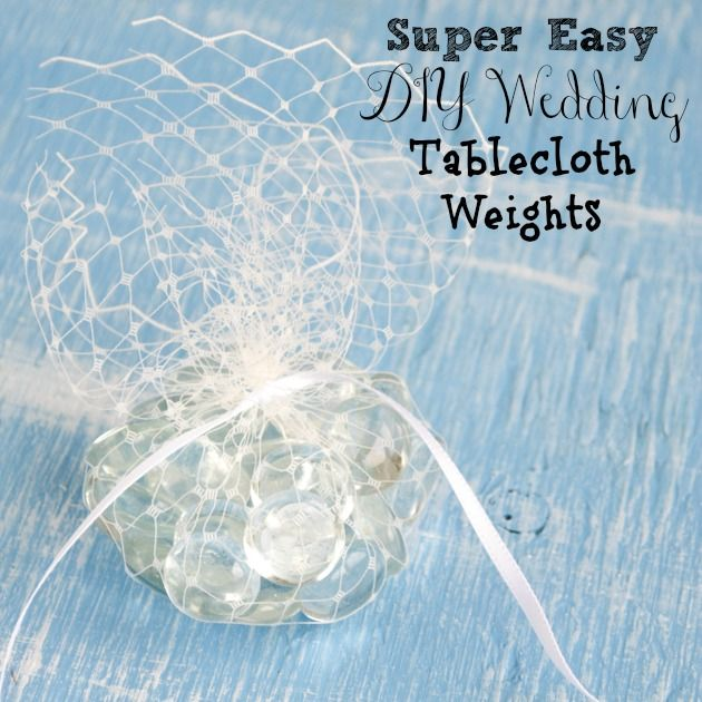 Having a party outdoors? Try these Super Easy DIY Tablecloth Weights