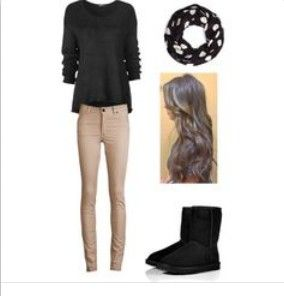 black ugg boots outfit