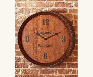 Barrelhead Clock - eclectic - clocks - by Napa Style