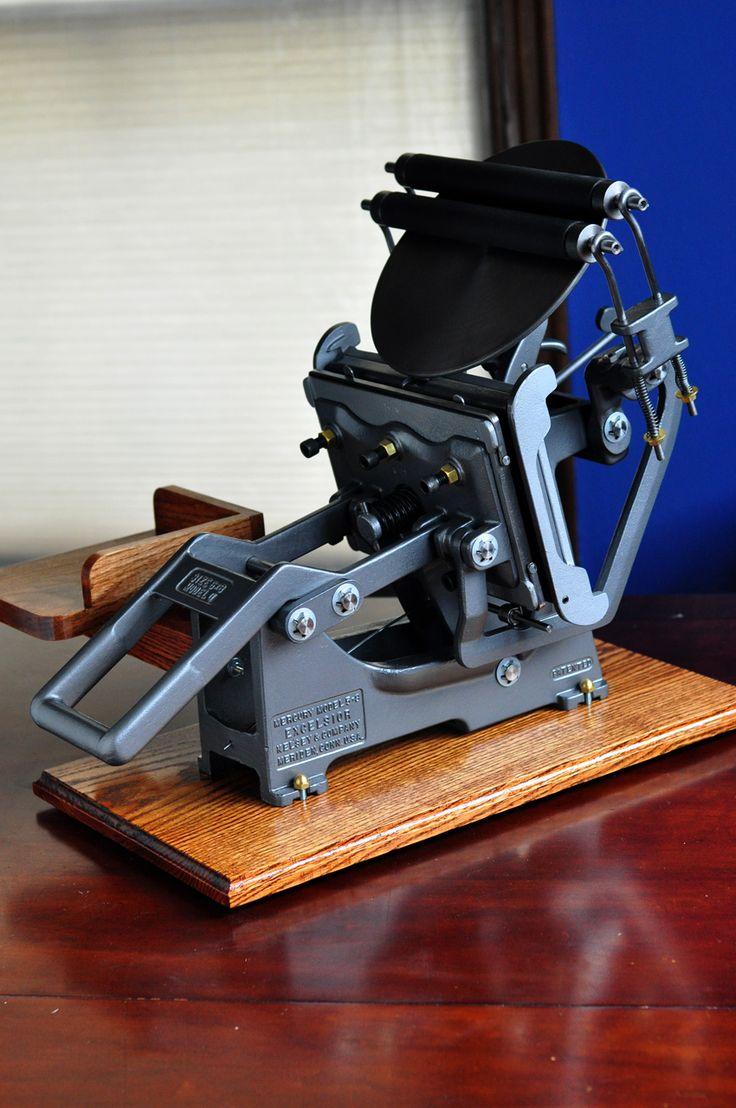 Letterpress Restorations: SOLD - Kelsey Model U 5x8 Fully Restored and Upgraded Letterpress