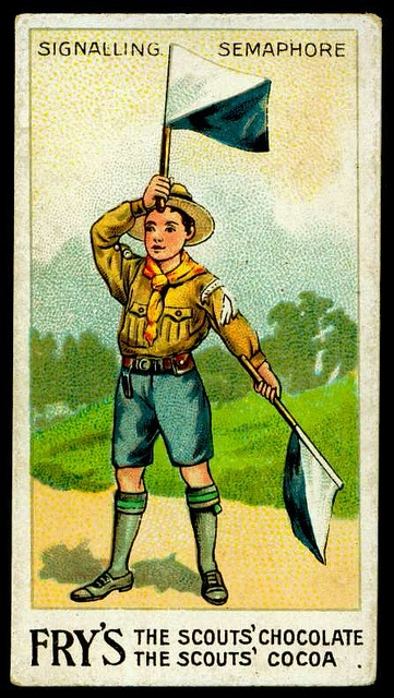 33 best bsa scouting posters images on pinterest scouting girl tradecard boy scout semaphore signalling by cigcardpix via flickr fandeluxe Image collections