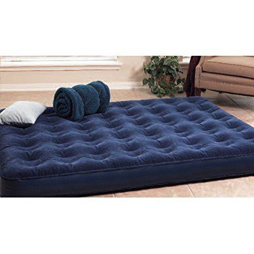 texsport deluxe inflatable airbed mattress with built in battery pump twin or queen air bed for - Inflatable Bed With Frame