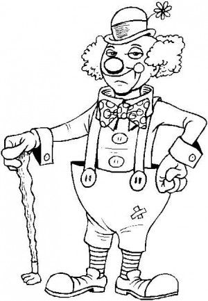circus coloring page 3 - Clown Coloring Pages