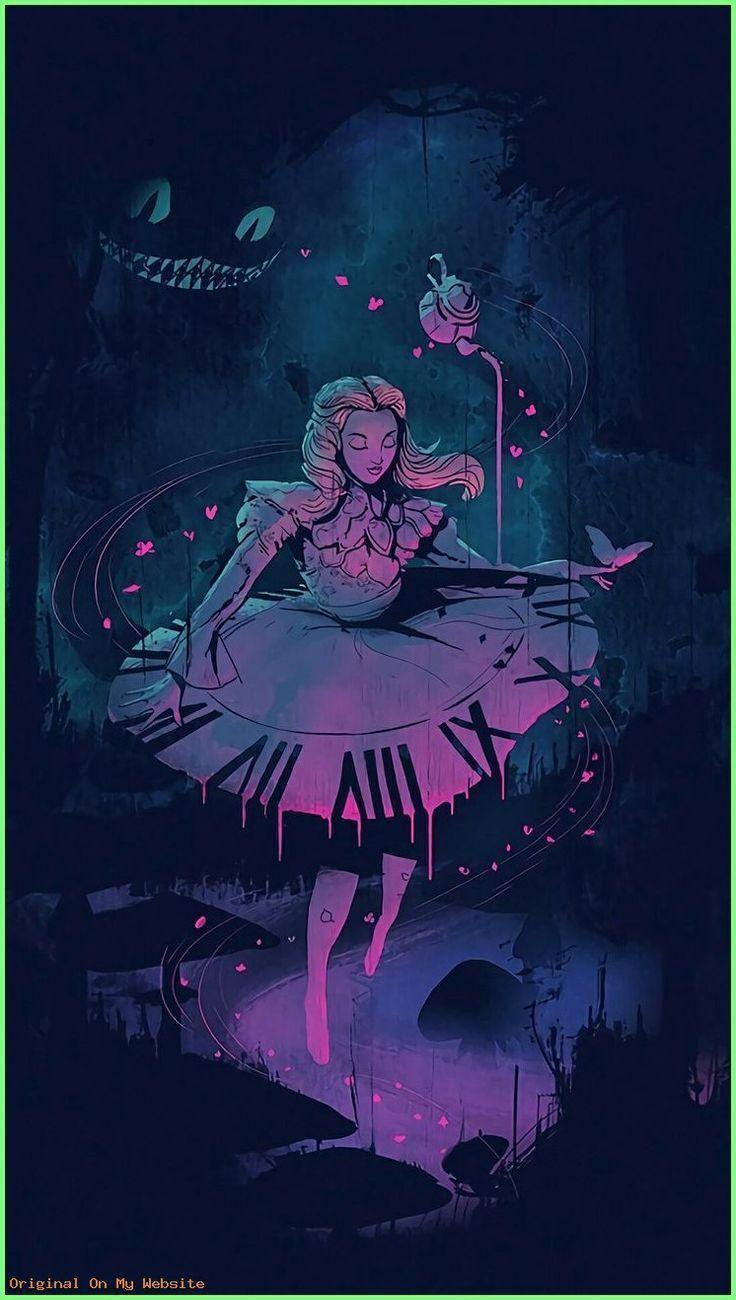 Hintergrund Iphone Disney Alice Im Wunderland Artwork Disneywallpaperiphonealiceinwonderl In 2020 Wonderland Artwork Disney Drawings Alice In Wonderland Artwork