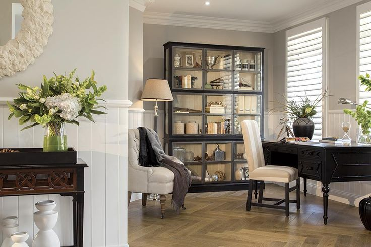 Study in the Brookwater display with a Classic Hamptons World of Style.
