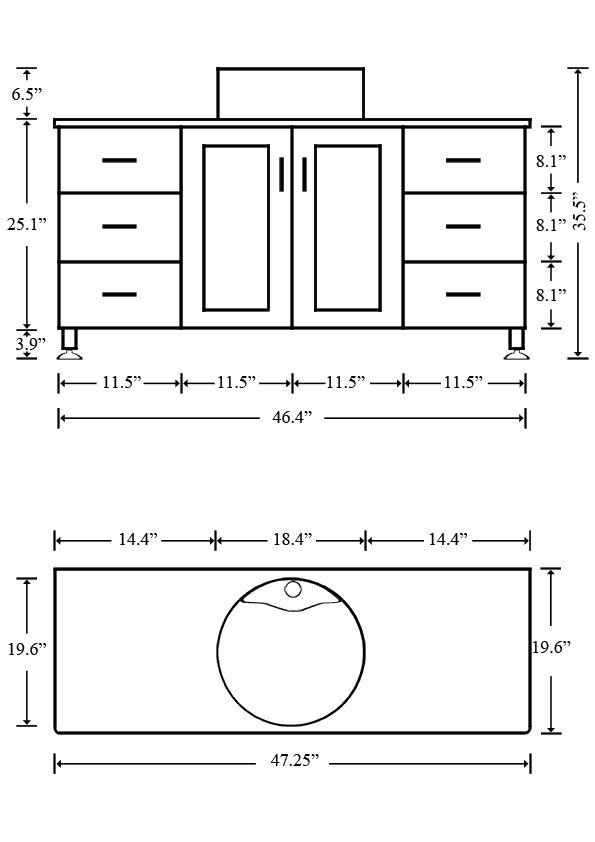 What is the standard height of a bathroom vanity vessel for Master bathroom plumbing diagram