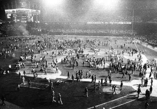 10-cent beer night, 1974. Cleveland Indians v. Texas Rangers