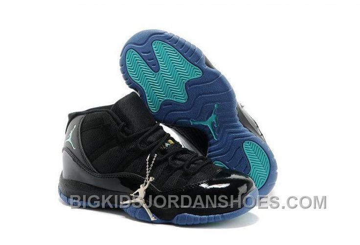 http://www.bigkidsjordanshoes.com/online-fashion-nike-air-jordan-11-kids-black-blue-cyan.html ONLINE FASHION NIKE AIR JORDAN 11 KIDS BLACK BLUE CYAN Only $85.00 , Free Shipping!