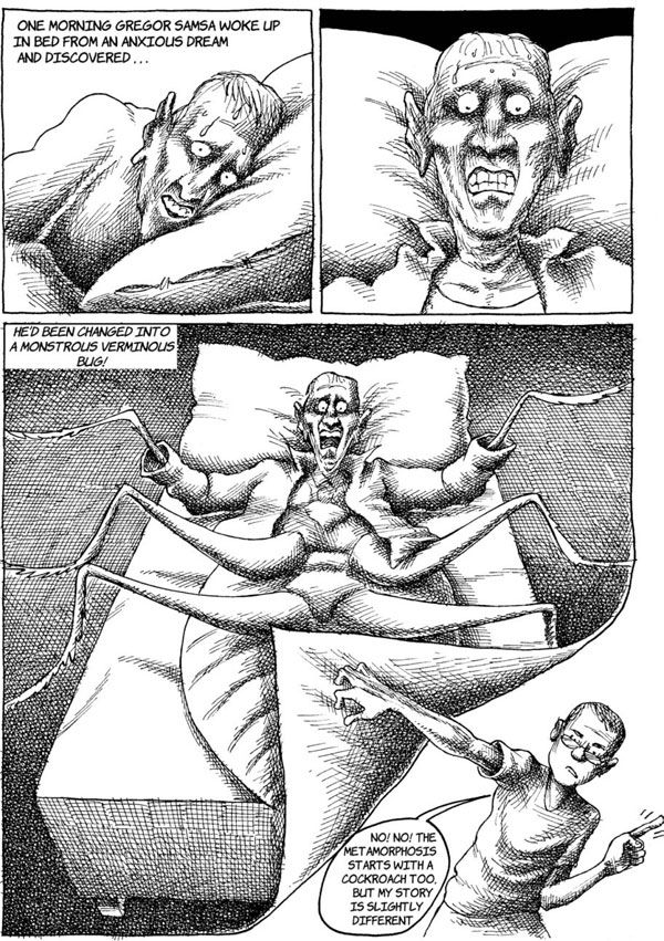 """#graphicnovel : """"An Iranian Metamorphosis"""" by #ManaNeyestani His use of an Azeri word for """"cockroach"""" in a children's cartoon published in May 2006 triggered riots among the Azeri minority, already persecuted by the Iranian government. The newspaper closed and Neyestani spent months in prison. Upon his release he emigrated to Malaysia and now lives in Paris. He received the Courage in Editorial Cartooning Prize from the Cartoonists Rights Network International in 2010."""