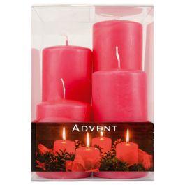 bougies de l'avent 4pcs rouge - 100 derniers articles  - Action France