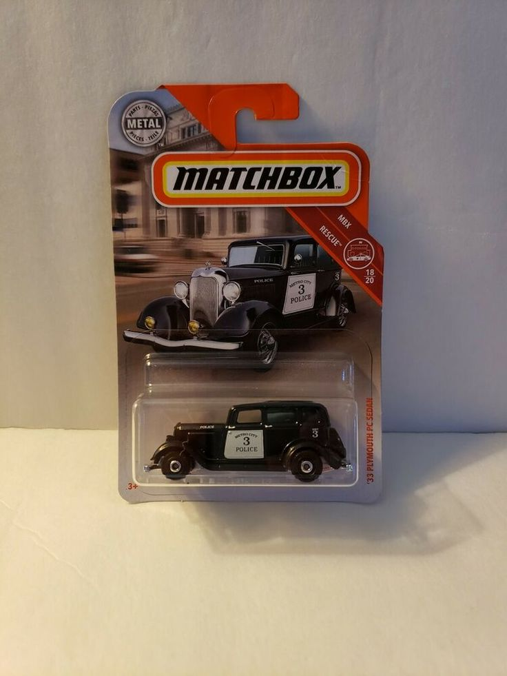 Details about 2019 Matchbox 1933 Plymouth Sedan Police Car