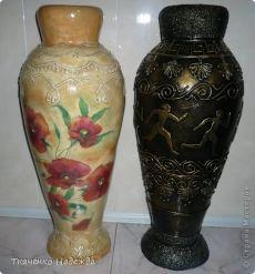 Напольные вазы из картона. Мастер-класс от Ткаченко Надежды