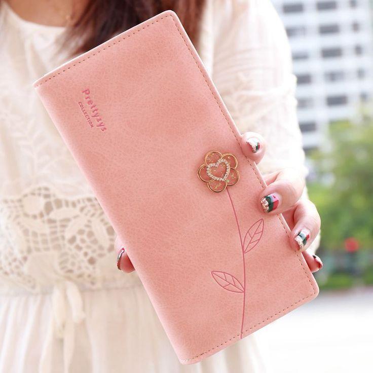 2016 New F ashion Women Wallets Long Luxury Brand Purse Pu Leather lady purse long