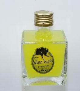 Detalle Boda Botella Cuadrado bajo elegante con Licor limoncello Villa Lucia, regalo invitados #Grandetalles