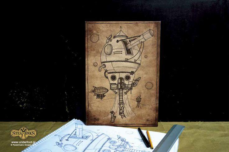 "Steamonks ""Observatory"" - Canvas print"