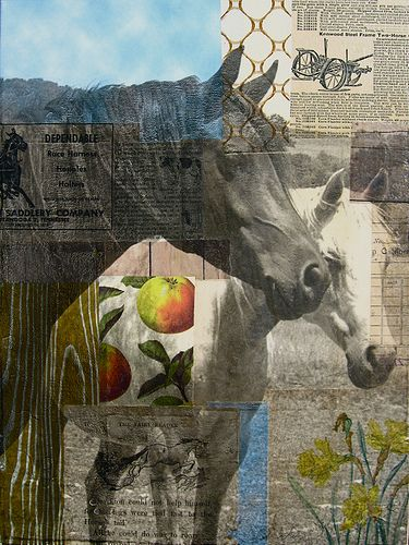 Michelle Caplan. A very talented collage and mixed media artist. Link to many of her works.