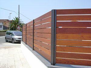 17 mejores ideas sobre vallas de madera en pinterest - Vallas exteriores para casas ...
