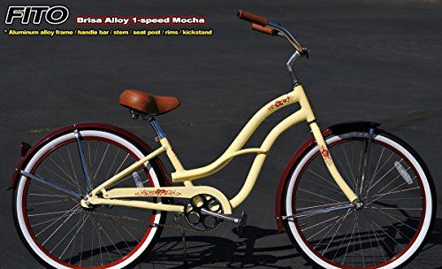 Special Offers - Anti-Rust & Light Weight Aluminum Frame Fito Brisa Alloy Single 1-speed  Mocha No Basket womens 26 wheel Beach Cruiser Bike Bicycle Basket Sold Separately. - In stock & Free Shipping. You can save more money! Check It (November 08 2016 at 08:35PM) >> http://bmxbikeusa.net/anti-rust-light-weight-aluminum-frame-fito-brisa-alloy-single-1-speed-mocha-no-basket-womens-26-wheel-beach-cruiser-bike-bicycle-basket-sold-separately/