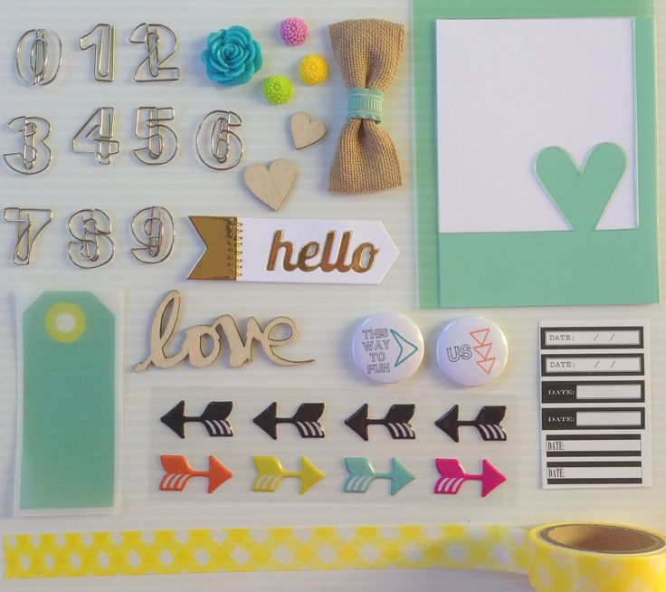Polly! Scrap Kits May 2014 Embellishment Kit - Trade Winds