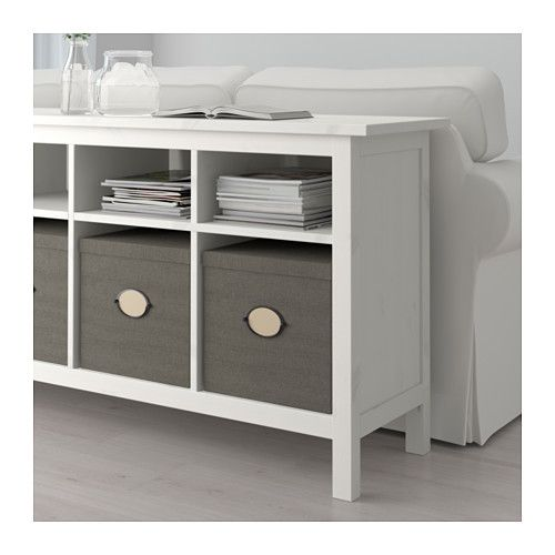 HEMNES Console table, white stain white stain 61 3/4x15 3/4