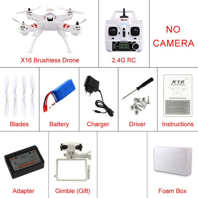 KAINISI X8A-1 RC Drone GPS Quadcopter Bayang Toys Brushless Holder Gopro Helicopters Can Add WIFI FPV Or HD 8MP Camera