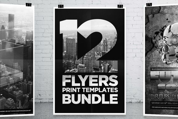 12 Party Flyers Bundle by DesignSomething on Creative Market