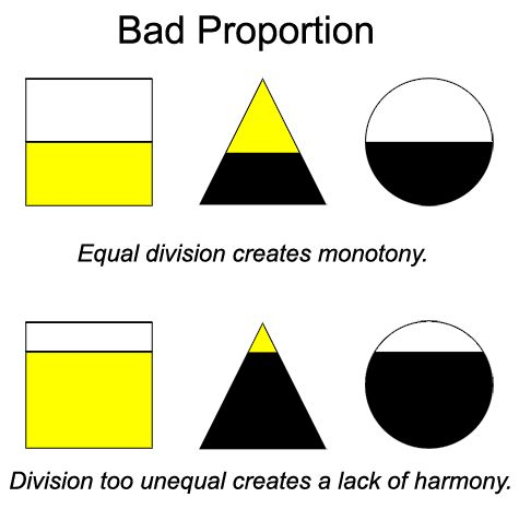 Good proportion: rule of thirds. Halves and quarters are bad, thirds are  good. : Scrapbooking Design Principles - Proportion: A Cherry On Top