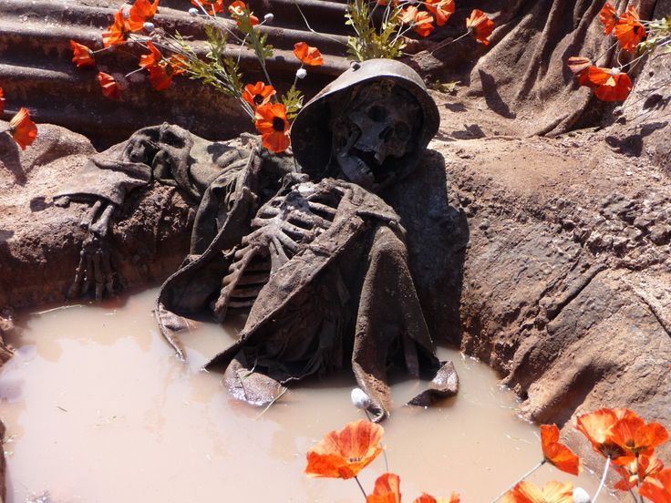 Relic amongst the flowers. WW1 | WWI a color | Wwi, World ...