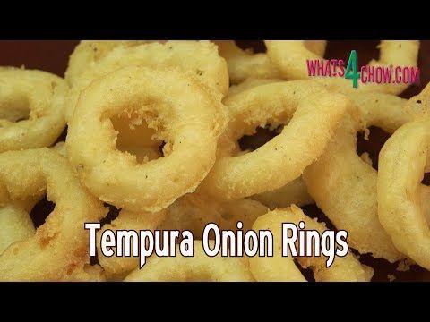 How to Make Tempura Onion Rings - Gourmet Deep Fried Onion Rings